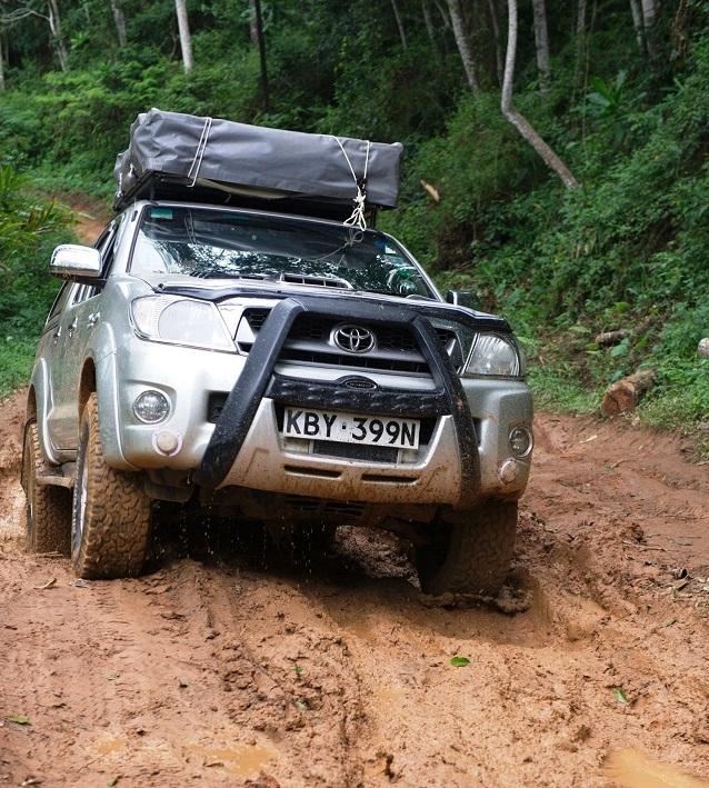 Toyota Hilux Double Cab Self Safari Drive Camp Rental Nairobi Kenya